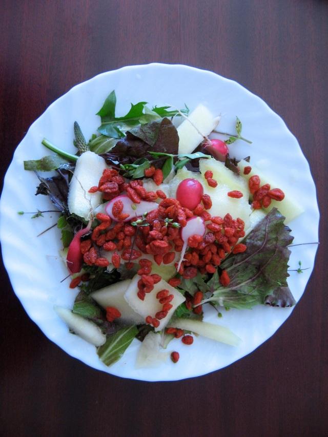 weganska salatka z owocami Goji - Maria Bucardi weganka terapeutka